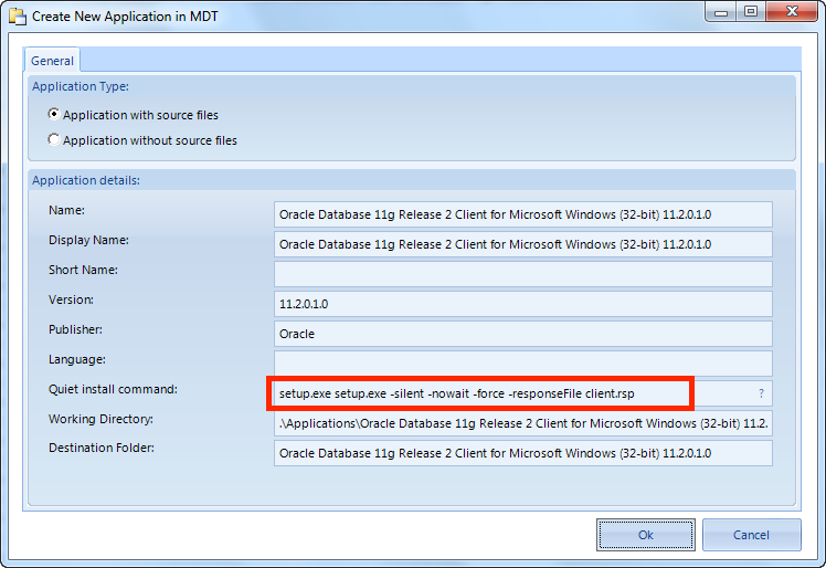 Installing oracle client on windows.